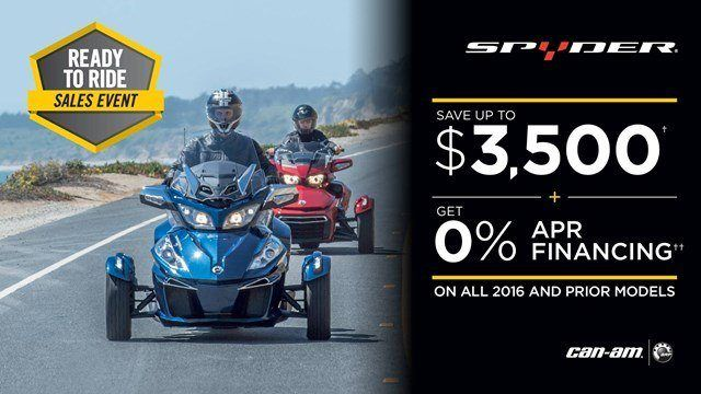 Can-Am Spyder Ready to Ride Sales Event 2016 and Prior Models